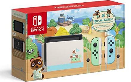 补货!Switch 任天堂动森限定版 游戏主机 特价$299.99