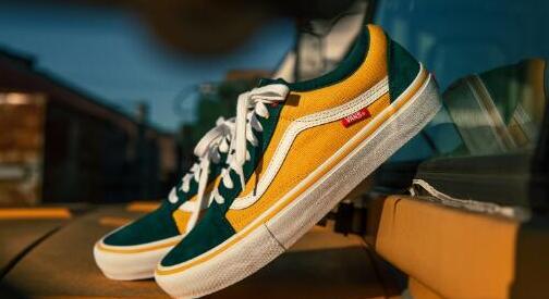 VANS Old Skool Pro万斯黄绿拼色大童款板鞋47折$29.97