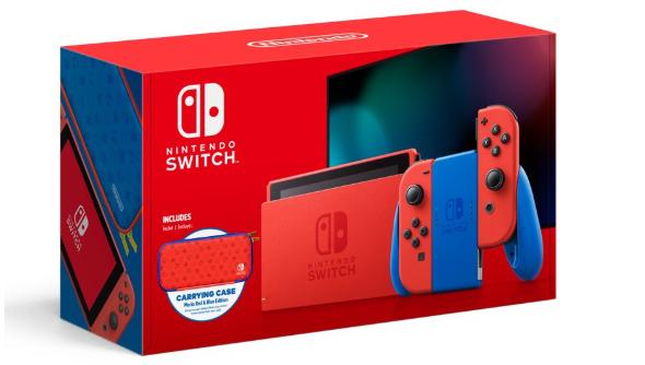 Nintendo任天堂Switch游戏家庭主机 马里奥红蓝限定版特价$299