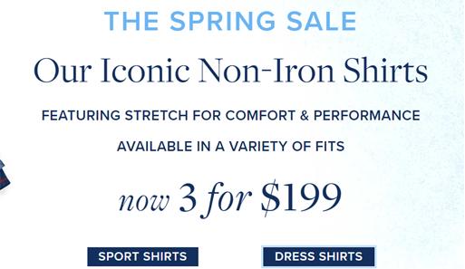 Brooks Brothers美国官网海淘精选衬衫3件$199促销