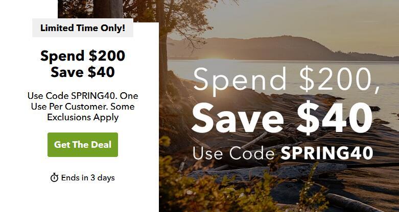 Steep&Cheap网站春季户外服饰装备低至3折+满$200再减$40
