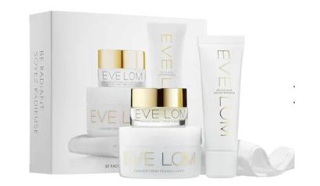 EVE LOM Be Radiant护肤亮白套装(总价值$94)降至5折$40
