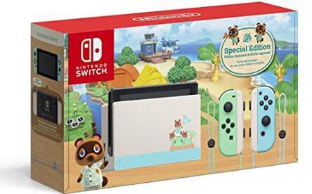 补货!Switch任天堂动森限定版游戏主机 海淘特价$299.99