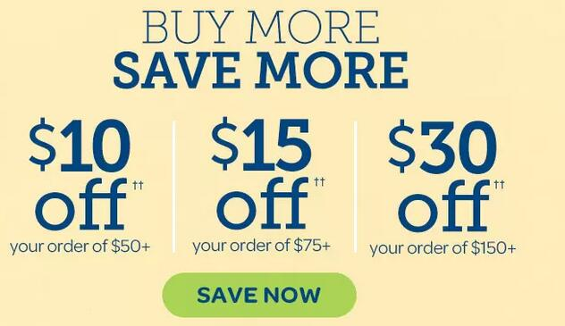 Puritan's Pride普丽普莱美国官网自营品牌买1送2+最高满减$30