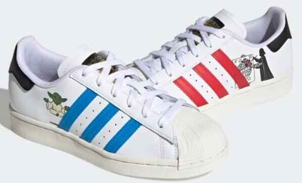Adidas originals 星球大战大童板鞋 鸳鸯款 海淘折后$36