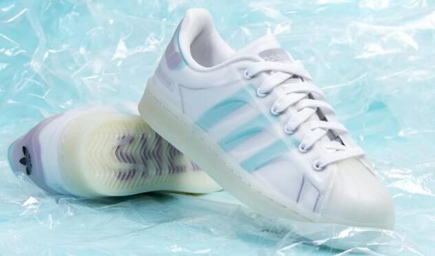 Adidas originals Superstar半透明果冻大童款板鞋折后价$34.4