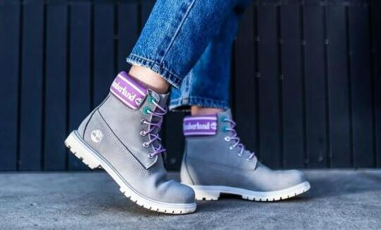 Timberland 灰色磨砂革6英寸防水女靴降至48折$79.97