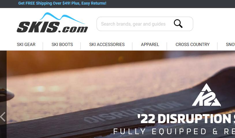 Skis.com美国官网户外运动装备海淘攻略教程