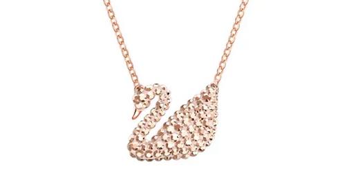 Swarovski施华洛世奇 玫瑰金小天鹅项链折后$44.5