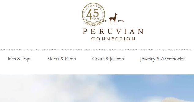 Peruvian Connection美国官网知名服饰海淘攻略教程