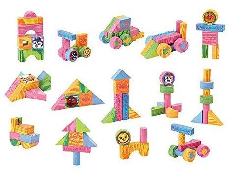 积木玩具 益智 日本anpanman面包超人宝宝可爱搭高积木 特价3840日元