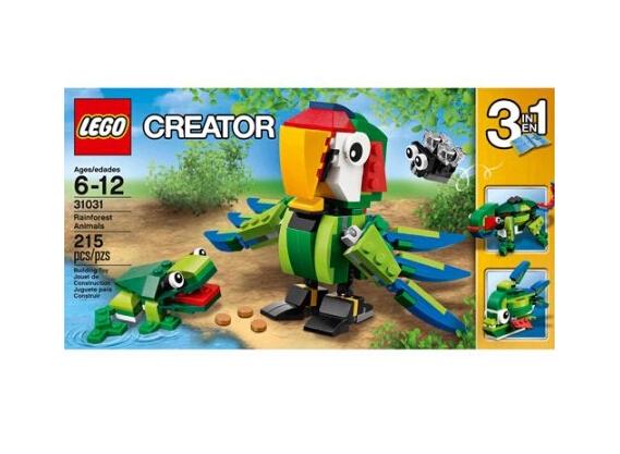 现有 LEGO Creator 乐高创意系列热带雨林动物热卖,原价$14.97,现特价$10.99,约73元,折扣随时可能取消,美国境内免运费,可以转运带回。 包装中共有215块乐高,可以组成色泽艳丽的热带鹦鹉、青蛙和小飞蝇。鹦鹉的翅膀、脚和眼睛都能移动,青蛙还可以张开嘴巴将小飞蝇吃入口中。重新组合还可得 到变色龙或热带食人鱼,它们身体的关节也可以活动。本套乐高玩具可以给孩子们带来无限创意,让他们玩耍几个小时都会乐此不疲,是送给6-12岁儿童的最好 益智礼物。现在Walmart无门槛包邮,快点行动吧~本款