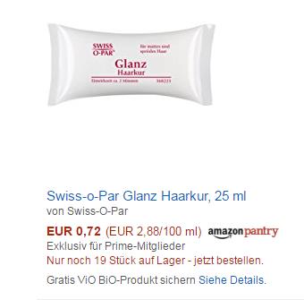 Swiss-O-Par 德国修护精华小枕头发膜 低至0.55欧
