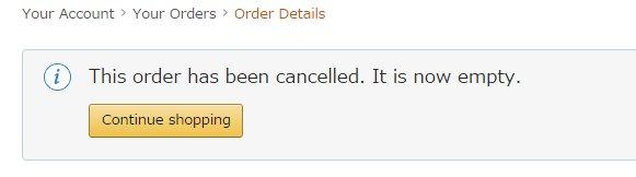 日本亚马逊订单取消
