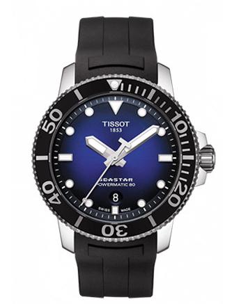 Tissot天梭海星系列橡胶带80机芯机械男表