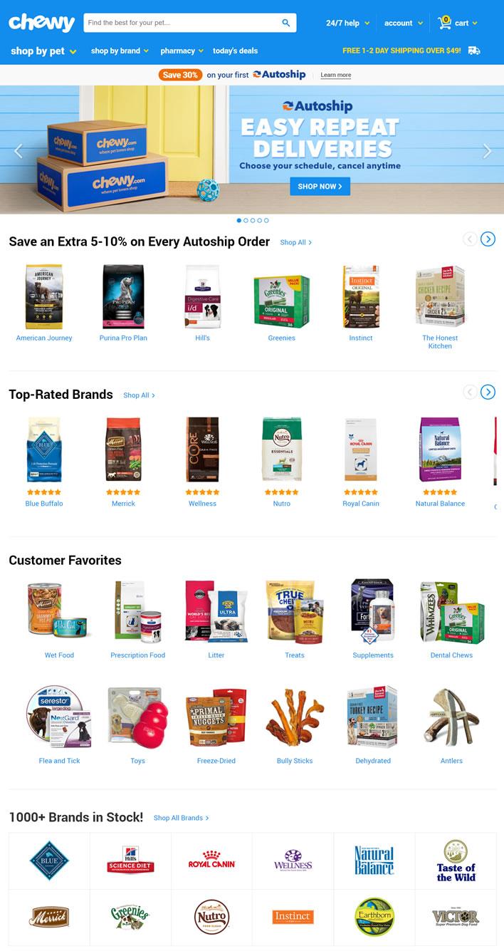 coach官网美国官网_Chewy美国官网:宠物食品、玩具、保健品在线海淘网站